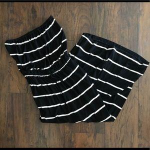 J crew women's striped maxi dress